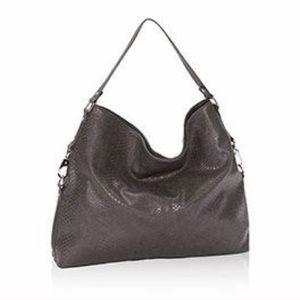 Thirty-One Jewell Hobo Charcoal Grey Bag Tote